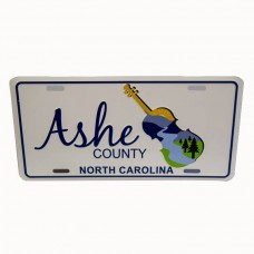 Ashe Fiddle Logo Car Tag
