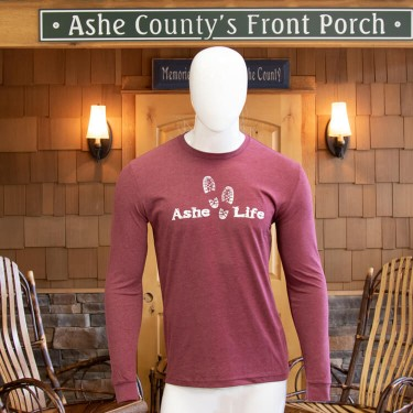 Ashe Life (Hike) Logo Long Sleeve T-Shirt
