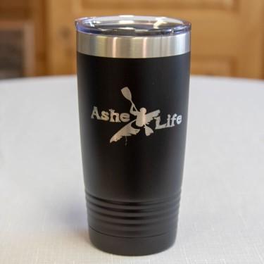 Ashe Life (Kayak) Logo Tumbler
